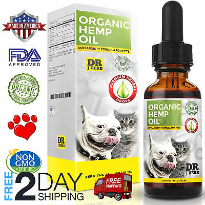 NEW Oil for Dogs and Cats Pets Stress Anxiety Pain Relief 500mg Natural 100%