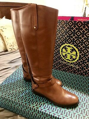 c1b2e00f55fc Tory Burch Leather Colton Riding Boots Size 7.5