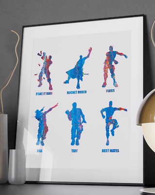 Kids Emote Dances -Quote Poster Print - A6 to A0 - Gaming Xbox PS4 Battle Royale