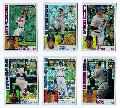 1984 Chrome Refractor Silver Pack Complete Your Set 2019 Topps Series 1 You Pick