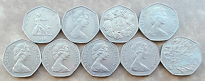 LARGE / OLD 50p, Fifty Pence Coins * Coin Hunt * Choice of Year * 1969-1994