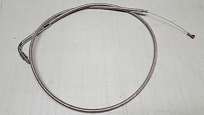 """Drag Specialties +6"""" Stainless Braided Idle Cable Harley FXST FXD DS-224010 *NEW"""