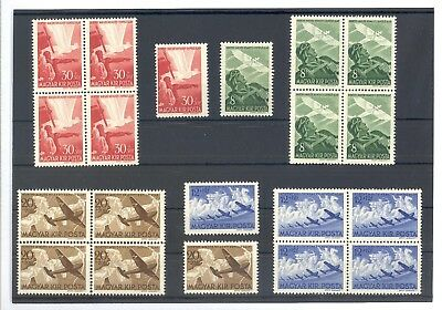 Hungary Wwii. 1942 - Aviation Fund -Complete Set 20 Stamps Mnh-Mint Never Hinged