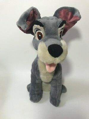 Disney Store Exclusive Tramp Plush 14 Inch Dog Stuffed Animal Lady and the Tramp