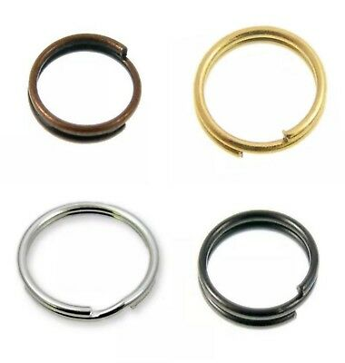 ALL SIZES & ALL COLOR Double Loop Metal Split Ring Findings Keyring Making DIY