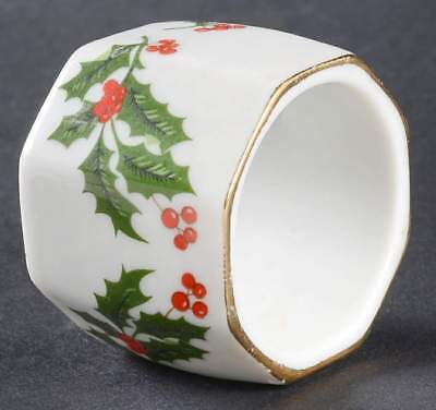 All The Trimmings CHRISTMAS HOLLY (PORCELAIN) Napkin Ring 121925