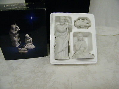 Vintage 1981 Avon Nativity Collectibles The Holy Family Porcelain Figurine
