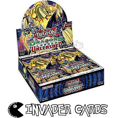 YuGiOh Dragon Of Legends 3 Unleashed DRL3 1st Edition Booster Box 24 Pack Loose