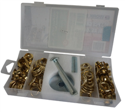 Grommet tool set 103 piece with grommets eyelets 9313399111181