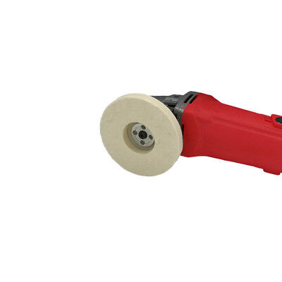 """4"""" Round Wool Polishing Wheel Angle Grinder Buffing Disc ForRotary Kit Grinding"""