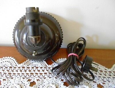 Vintage Art Deco Bakelite Plug In Wall Sconce Lamp Portable Light Aust Made