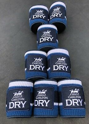 CARLTON DRY  STUBBY COOLERS X 8 Brand New Promo Gear Knitted by Grandma Carlton