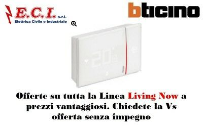 Bticino Living Now X8000W Smarther è the thermostat connected with wi-fi