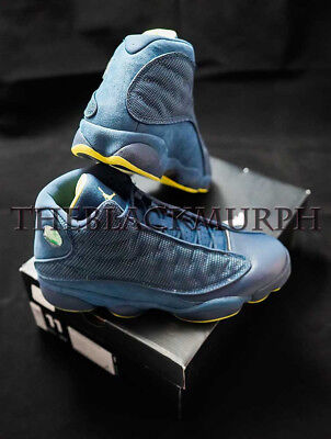1758a2ae310 Air Jordan 13 Retro Squadron Size 11 Mens Blue Electric Yellow XIII 414571  405