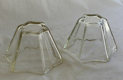 Vintage Pair Depression Glass STAR MOULDS Jelly Terrine 2