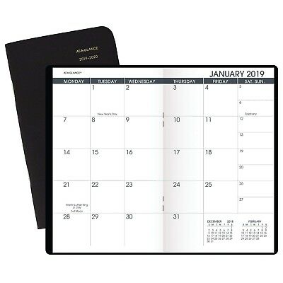 Monthly Planner 2019-2020 Appointment Book Weekly Pocket Travel Reminder Journal