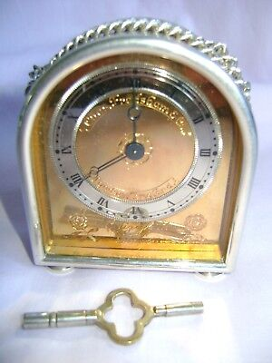 Frodsham Solid Silver Small Hump Back Carriage Clock Limited Edition W/papers