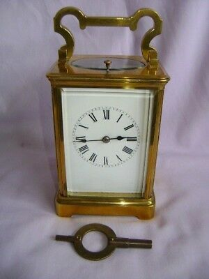 French Repeater Carriage Clock In Good Working Order Serviced August 2018