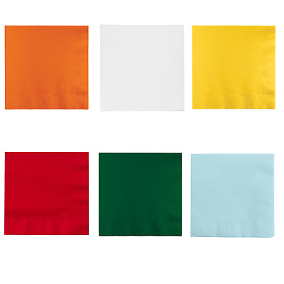 White Baby Blue Red Orange Yellow Green Paper NAPKINS 33cm GREAT QUALITY 3ply