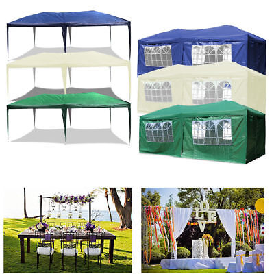 Gazebo 3x6m Waterproof Outdoor PE Garden Gazebo sides Marquee Canopy Party Tent