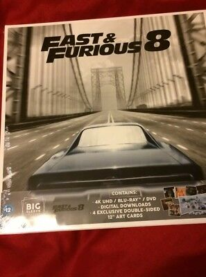 Fast And Furious 8 Blu Ray 4k 3 Disc Ltd Edition