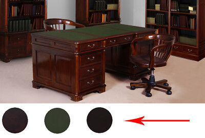 PARTNERS DESK 150 cm Victorian style mahogany solid wood from manufacturer