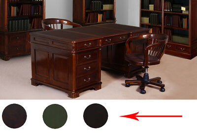 PARTNERS DESK 180 cm Victorian style mahogany solid wood from manufacturer