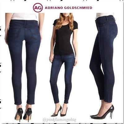 eaed2a0cc3666 AG Adriano Goldschmied SUPER SKINNY JEAN The Legging Ankle 24 Dark Blue MIS  VGUC