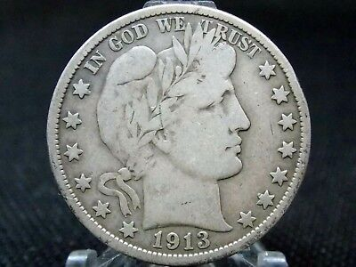 "1913 ""P"" Barber Half Dollar 50c #5 KEY DATE East Coast Coin & Collectables, Inc."