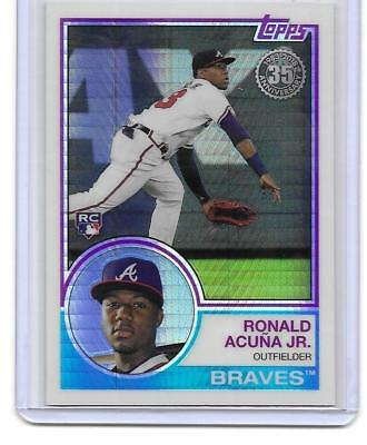 2018 Topps Update RONALD ACUNA JR 35th Anniversary Rookie Refractor Silver Pack