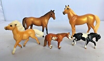 Lot Of 5 Miniature Breyer Horses Mini Whinnies Stablemates Draft Horse Vintage