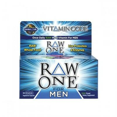 Garden Of Life Vitamine Code Brut One pour Hommes 30 or 75 Caps