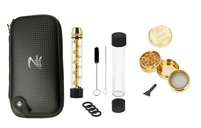ZPipe Packaging Twisty Glass Blunt Obsolete and Grinder Set