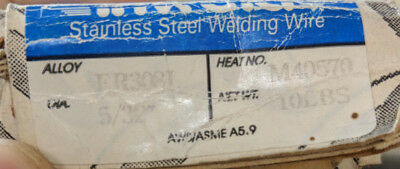 7 pounds of inweld FR308l 5/32 welding rods