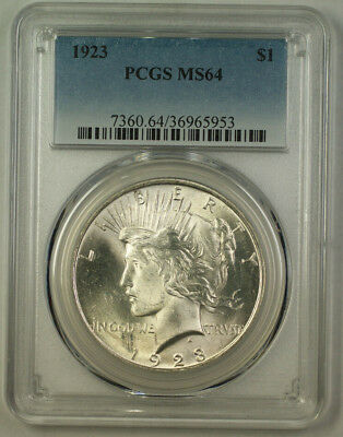 1923 Peace Silver Dollar $1 Coin PCGS MS-64 RJS