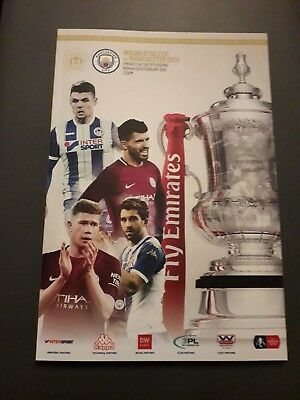 2018-Wigan Ath-Athletic V Manchester-Man City-Fa Cup 5Th Round-Programme