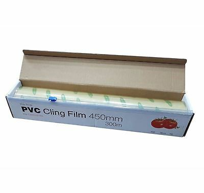 Strong Kitchen Catering Cling Film Wrap Cutter Slider Food Grade 450mm X 300M