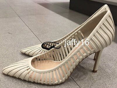 20fab665c4089 ZARA NEW WOMAN Strappy High-Heel Shoes Caged-Style Ecru 35-42 Ref ...