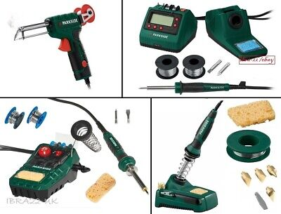 Parkside 30w to 48w Electric Soldering Iron Solder Gun Station Stand Magnifier