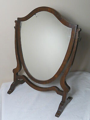Edwardian Shield Toilet Dressing Table Mirror With Foxing