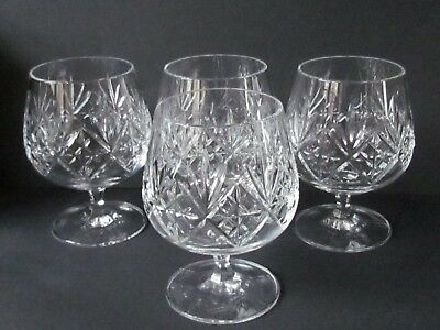 "EDINBURGH INTERNATIONAL CRYSTAL FOUR 4⅜"" BRANDY GLASSES (Ref4069)"