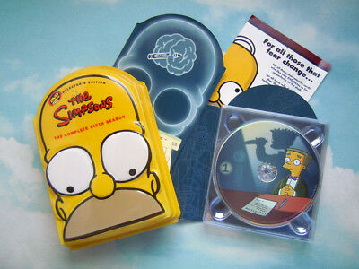 THE SIMPSONS Complete 6th Season Collector's Edition 4 Disc DVD Set Season Six