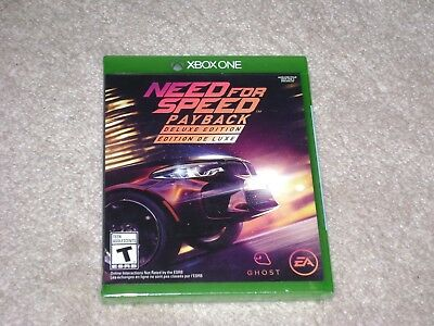 Need For Speed Payback Deluxe Edition...xbox One...***sealed***brand New***!!!!!