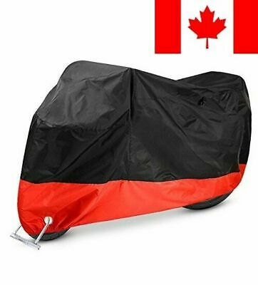 Motorcycle Cover Waterproof Ohuhu 210D Oxford Motorcycle Cover, Fits up to 10...