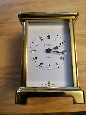 Vintage Bayard French Carriage Clock 8 day movement