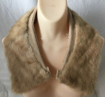 Vintage Brown Fur Coat Collar Stole