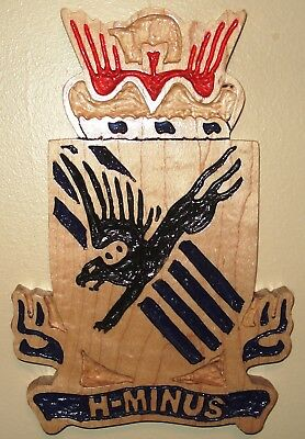 505th PIR DUI, Wood carving, 82nd Airborne, H-MINUS