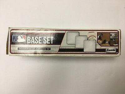 New Baseball Pitching 3 Piece Rubber Thrown Down Base Set Home Plate MLB White