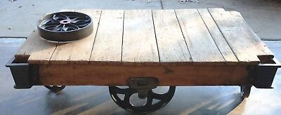 Vintage Warehouse Cart Coffee Table Antique 270 00 Picclick