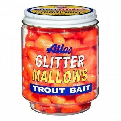 Atlas Glitter Mallows 1 1/2 oz. Scented Floating Marshmallow Trout Fishing Bait